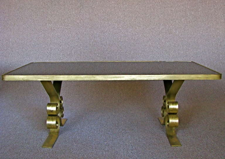 French Art Deco 1940's Endtables Wrought Iron For Sale 3
