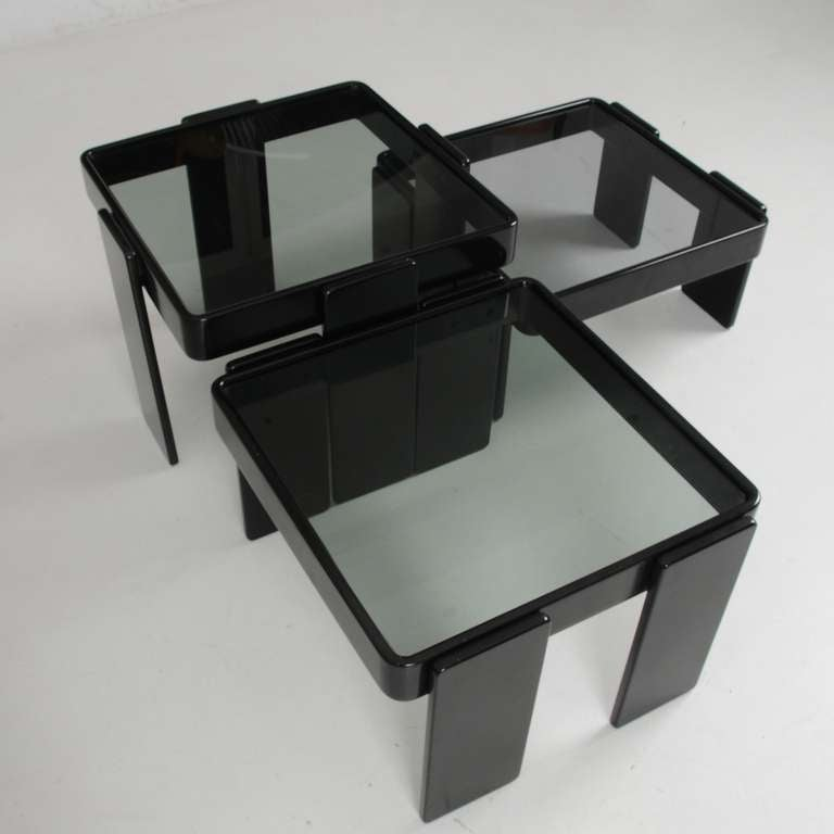 Italian Cassina Stacking Tables For Sale