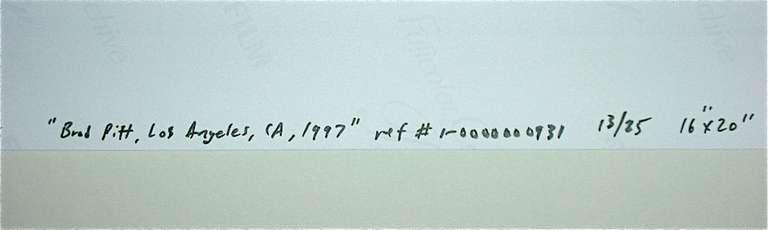 Contemporary Mark Seliger, Brad Pitt 1997/2006 Signed + No. 13/25