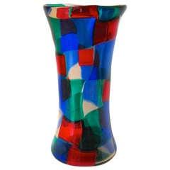 Very Rare Bianconi Pezzato No. 4398 Glass Vase