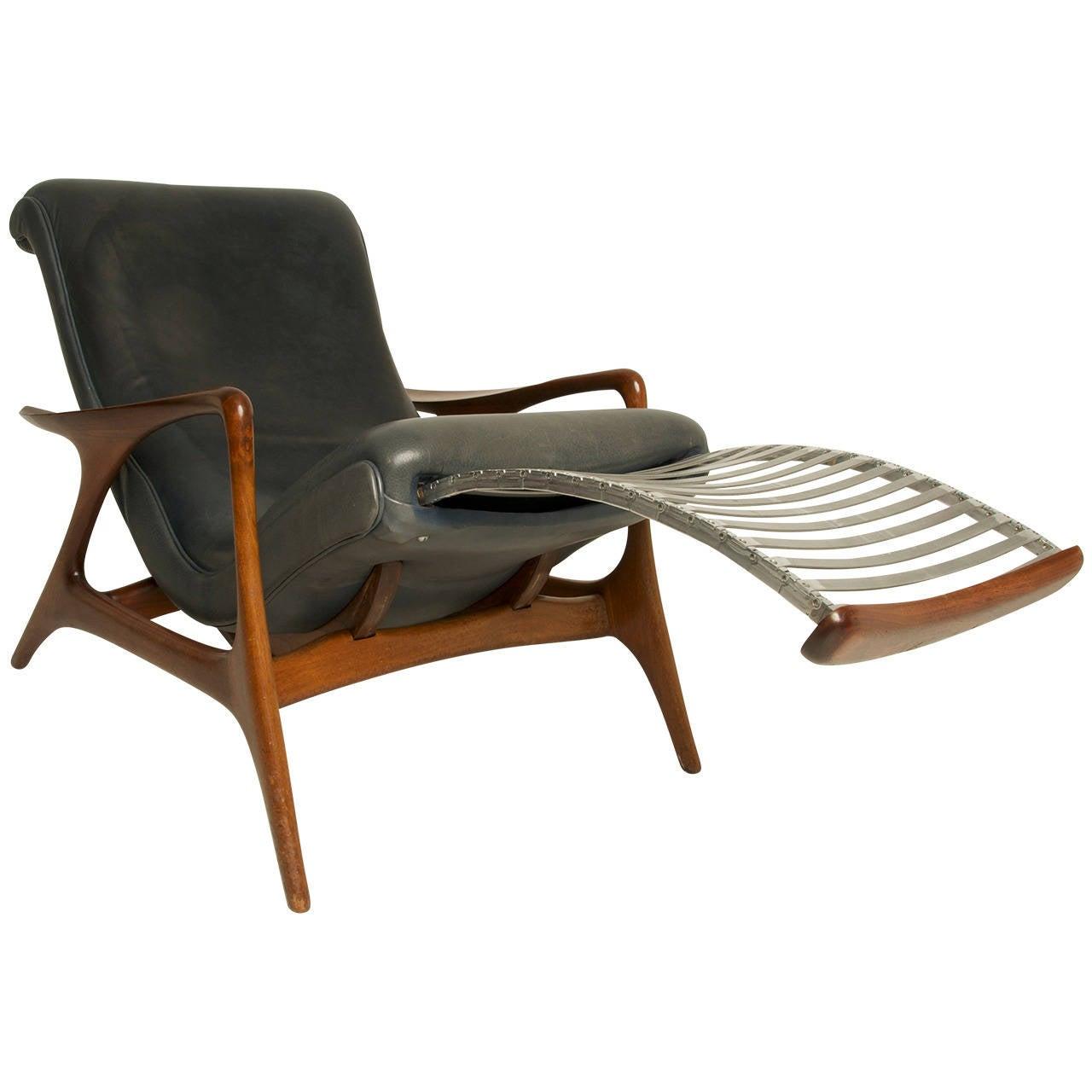 Very rare vladimir kagan multi position reclining chair vk100x at