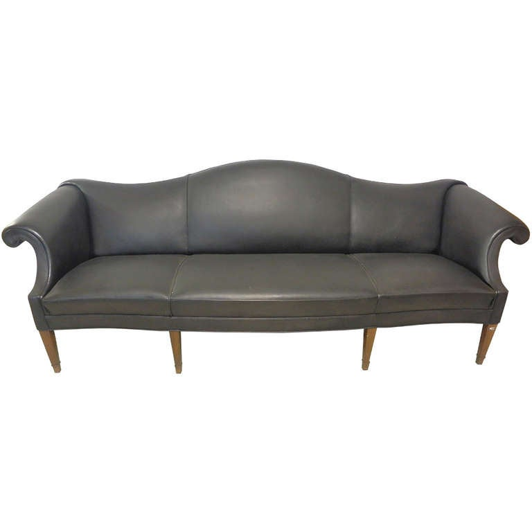 unique camelback sofa by frits henningsen at 1stdibs. Black Bedroom Furniture Sets. Home Design Ideas