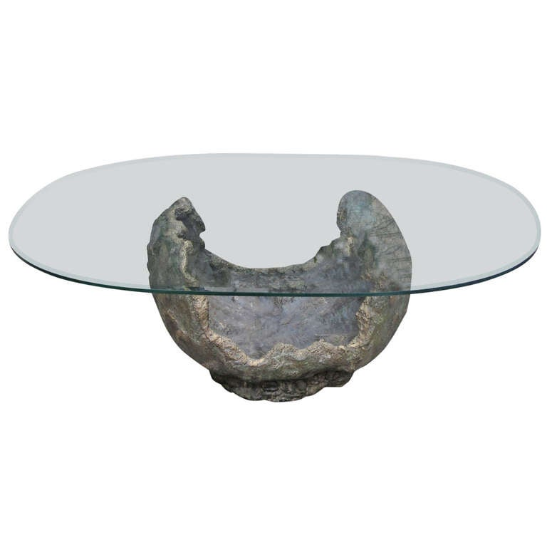 Bronze Coffee Table Paul Evans Style