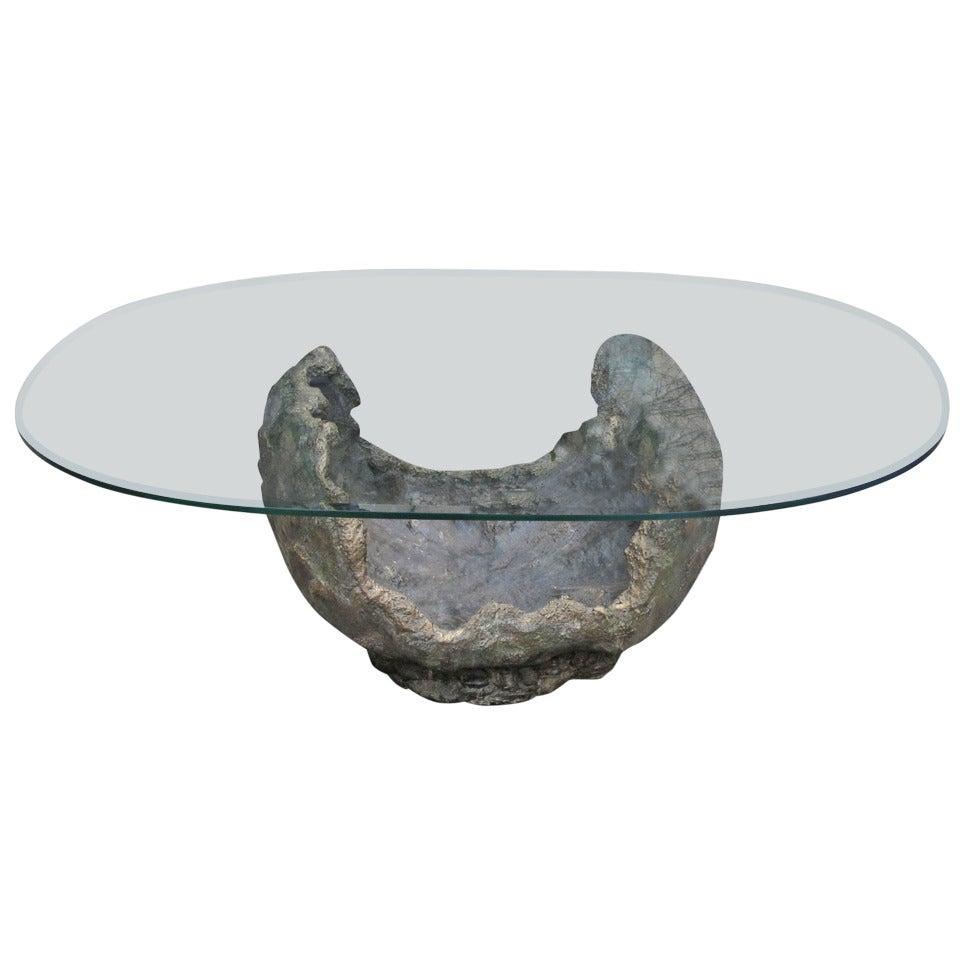 Bronze Coffee Table Paul Evans Style