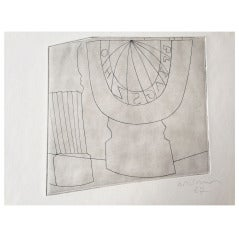 Ben Nicholson Turkish Sundial and Column, 1967 - 35/50 - Etching