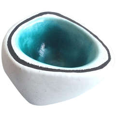 Georges Jouve Vessel White/ Turquoise