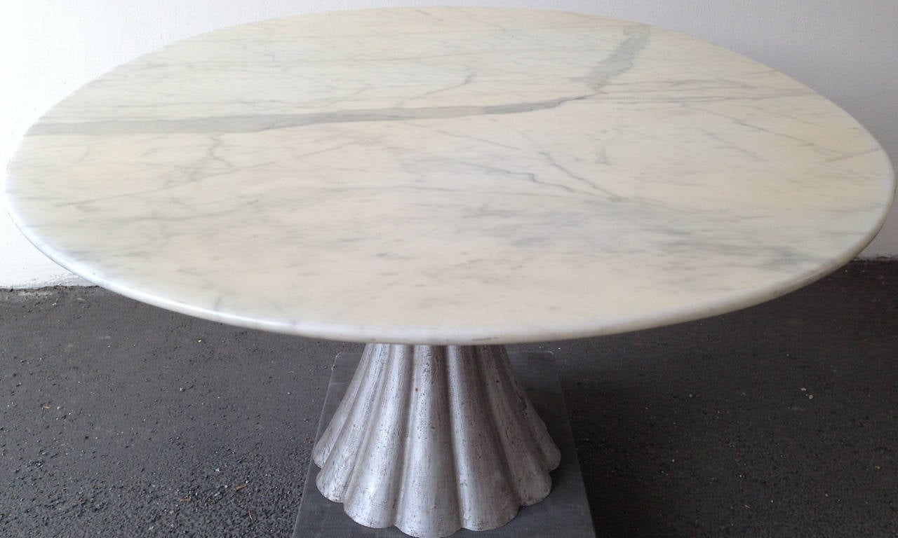 Oval Marble Dining Table In The Manner Of Angelo Mangiarotti At - Oval marble dining table