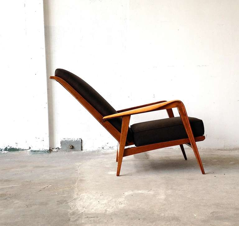 Wood Pair of Armchairs by Etienne-Henri Martin - Steiner Paris 1937 For Sale