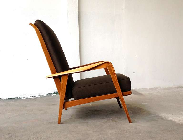 Mid-20th Century Pair of Armchairs by Etienne-Henri Martin - Steiner Paris 1937 For Sale