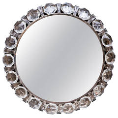 Illuminated Bakalowits Wall Mirror with Glass Crystals