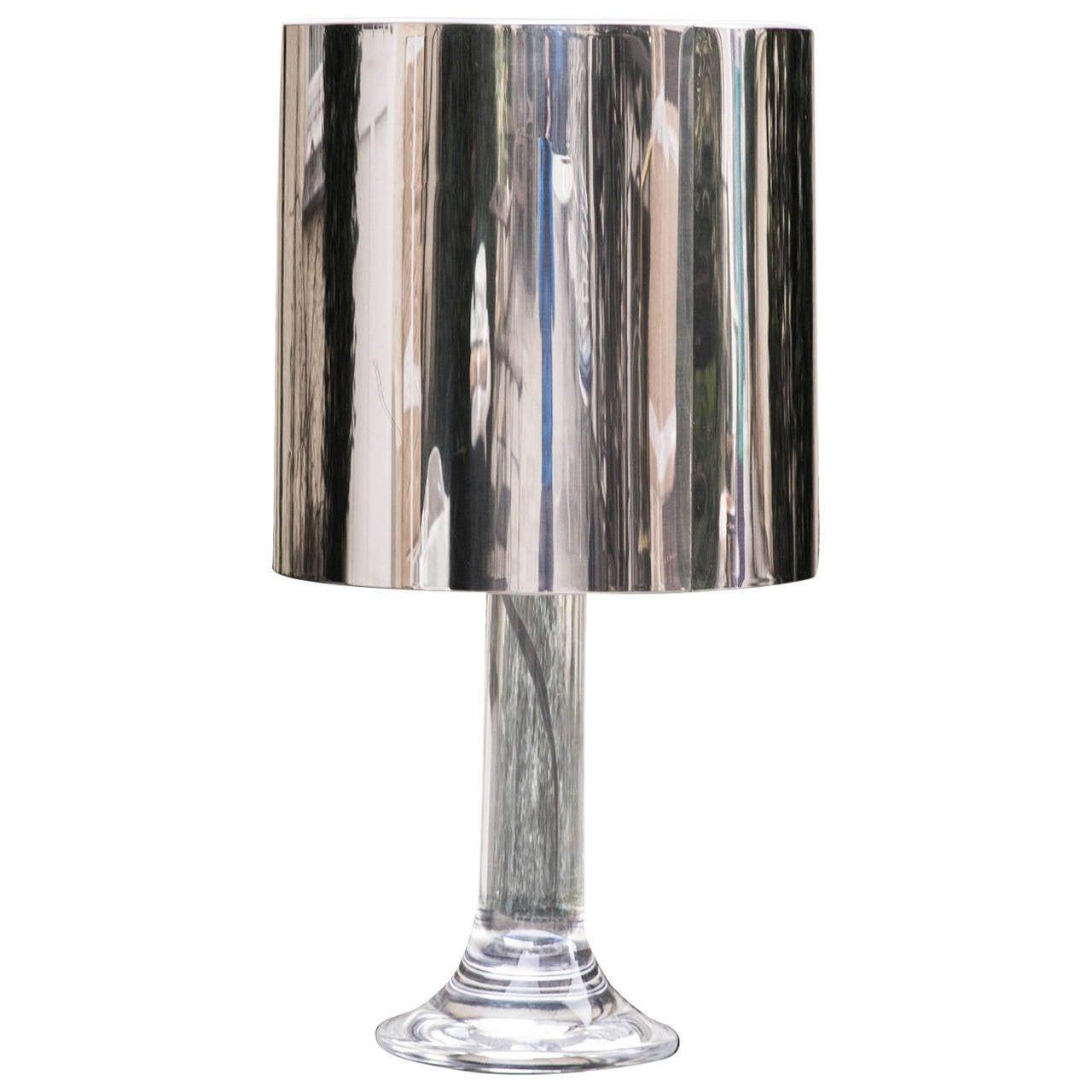Harvey Guzzini Lucite Table Lamp At 1stdibs
