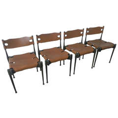 Very Rare Set of Four Montreal Dining Chairs
