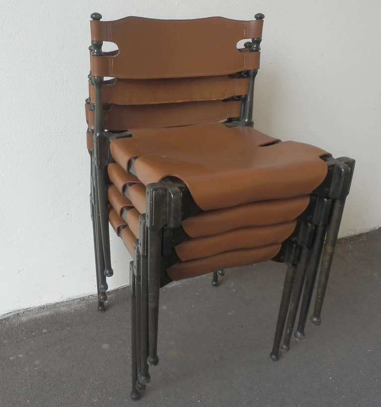 Mid-Century Modern Very Rare Set of Four Montreal Dining Chairs For Sale