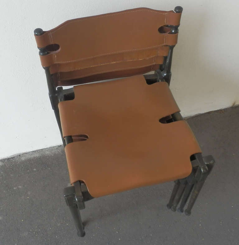 Mid-20th Century Very Rare Set of Four Montreal Dining Chairs For Sale