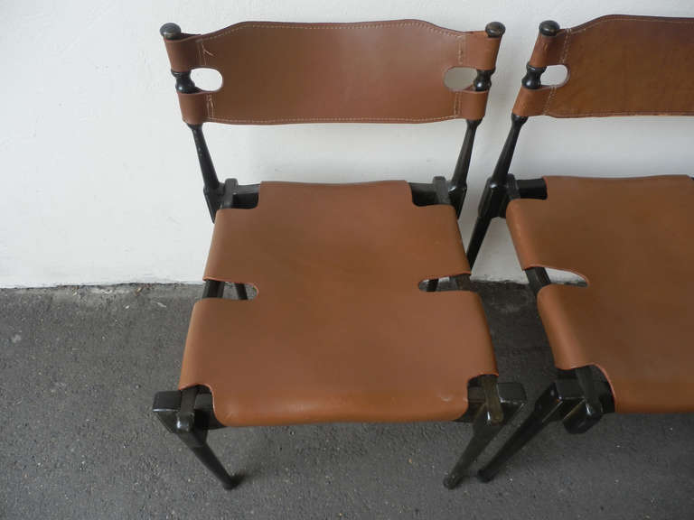German Very Rare Set of Four Montreal Dining Chairs For Sale
