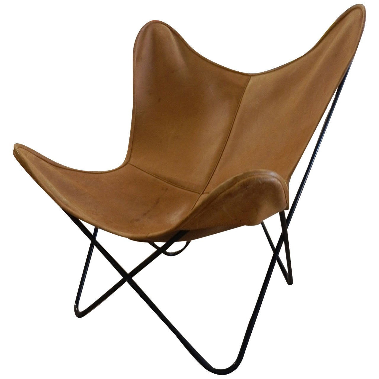 all original butterfly chair by knoll international at 1stdibs. Black Bedroom Furniture Sets. Home Design Ideas