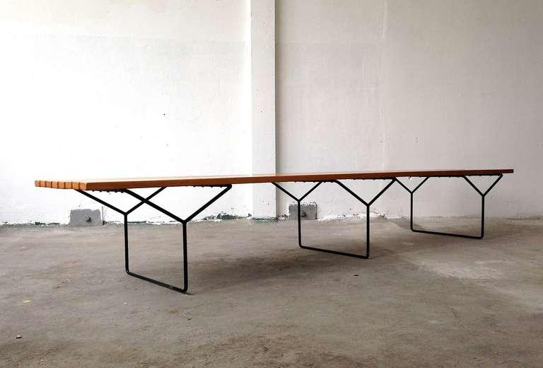 Harry Bertoia Knoll Slat Bench Extra Large At 1stdibs