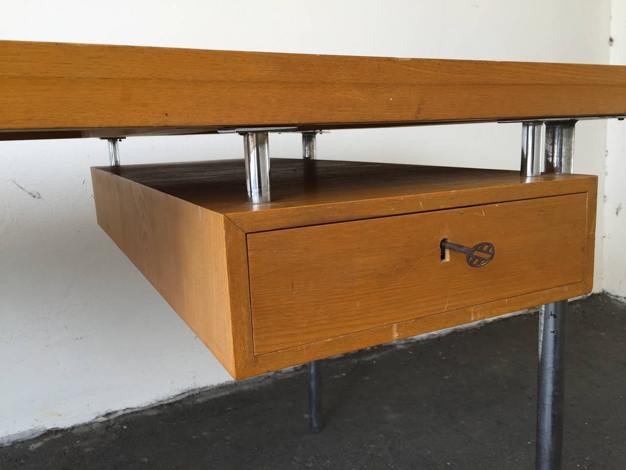 Do It Yourself Home Design: Architects Desk With Hidden Lockable Drawer, Style Of Poul