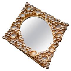 J.L. Lobmeyr Backlit Mirror, Gold Plate