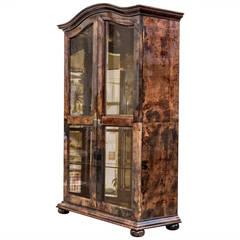 Elegant Aldo Tura Glass Mirror Cabinet