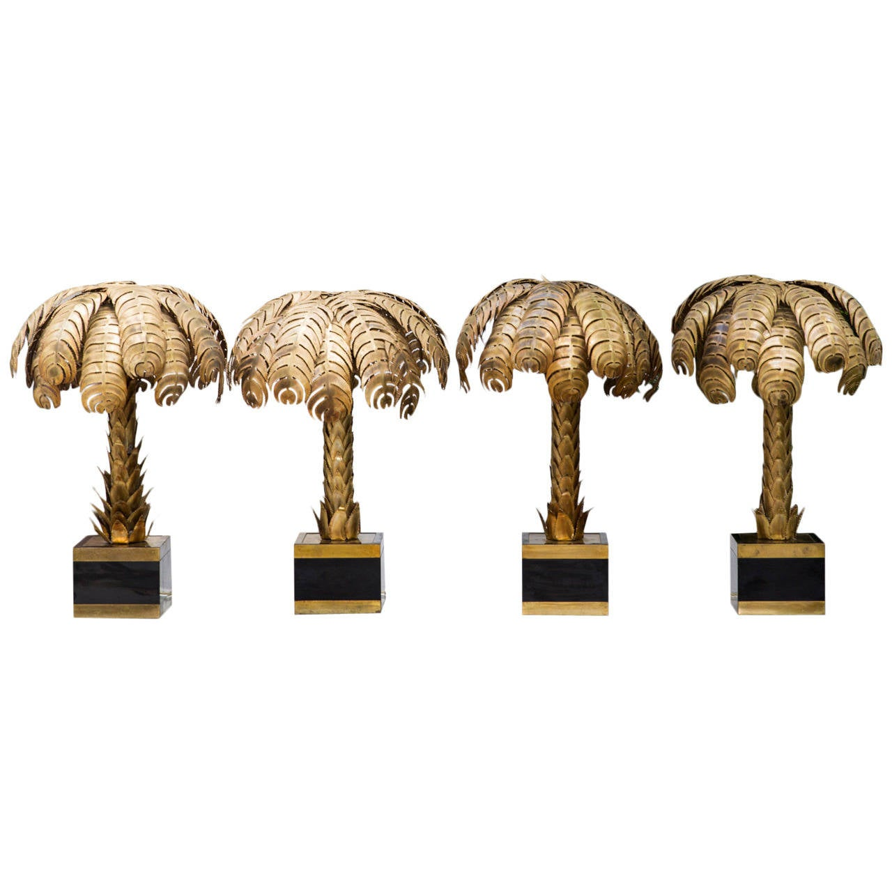 Set of four palm tree table lamps by maison jansen at 1stdibs set of four palm tree table lamps by maison jansen 1 geotapseo Image collections