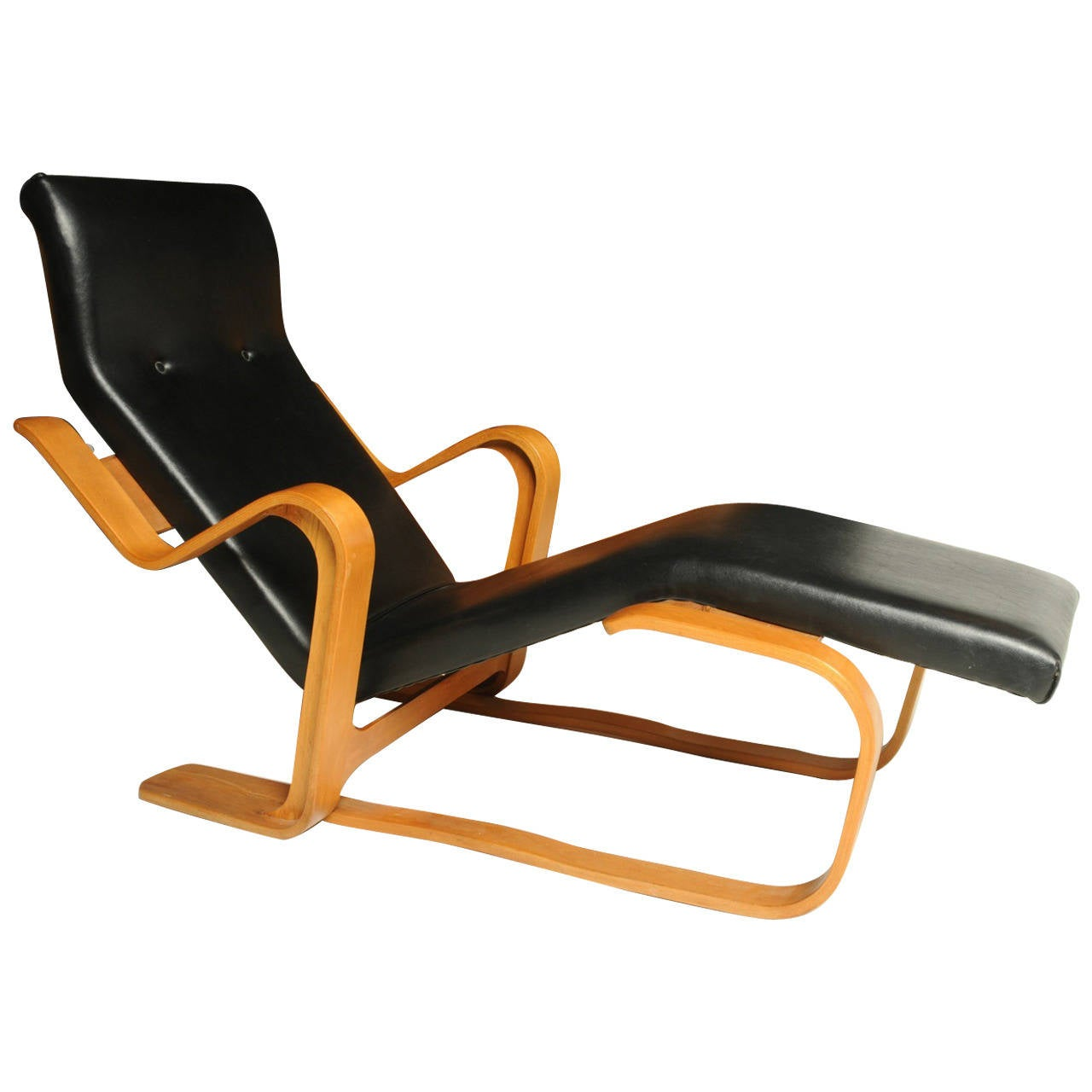 early marcel breuer long chaise for sale at 1stdibs. Black Bedroom Furniture Sets. Home Design Ideas