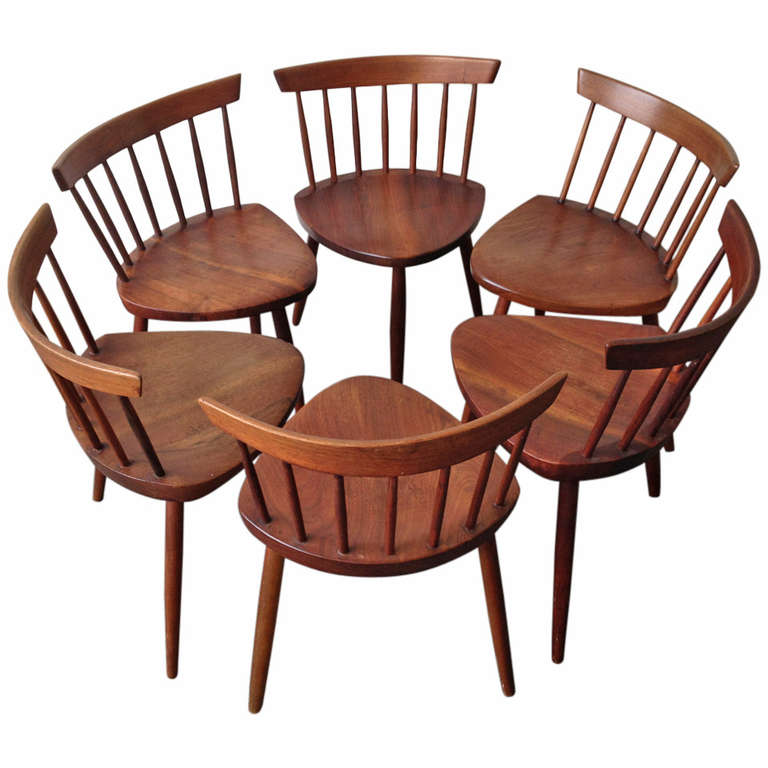 set of six mira dining chairs at 1stdibs. Black Bedroom Furniture Sets. Home Design Ideas