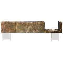 Brutalist Wall Sideboard Paul Evans Style
