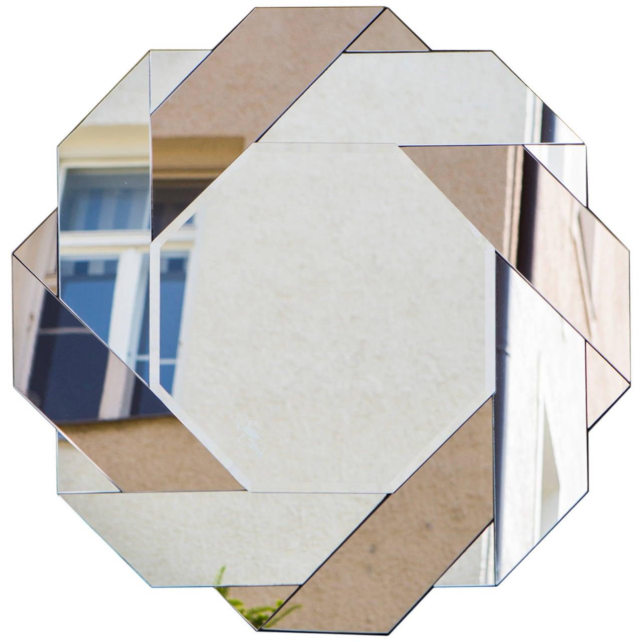 Italian Bicolor Octagonal Mirror