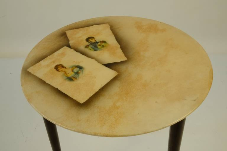 Four Aldo Tura Side Tables In Good Condition For Sale In Munich, DE