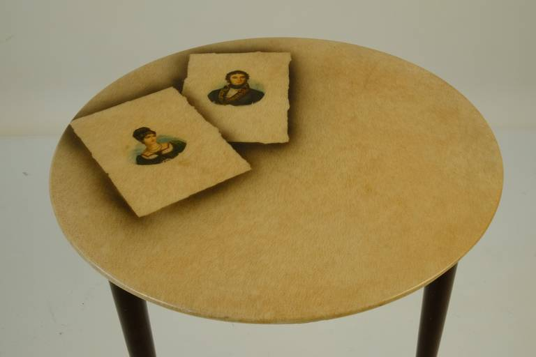 Mid-20th Century Four Aldo Tura Side Tables For Sale