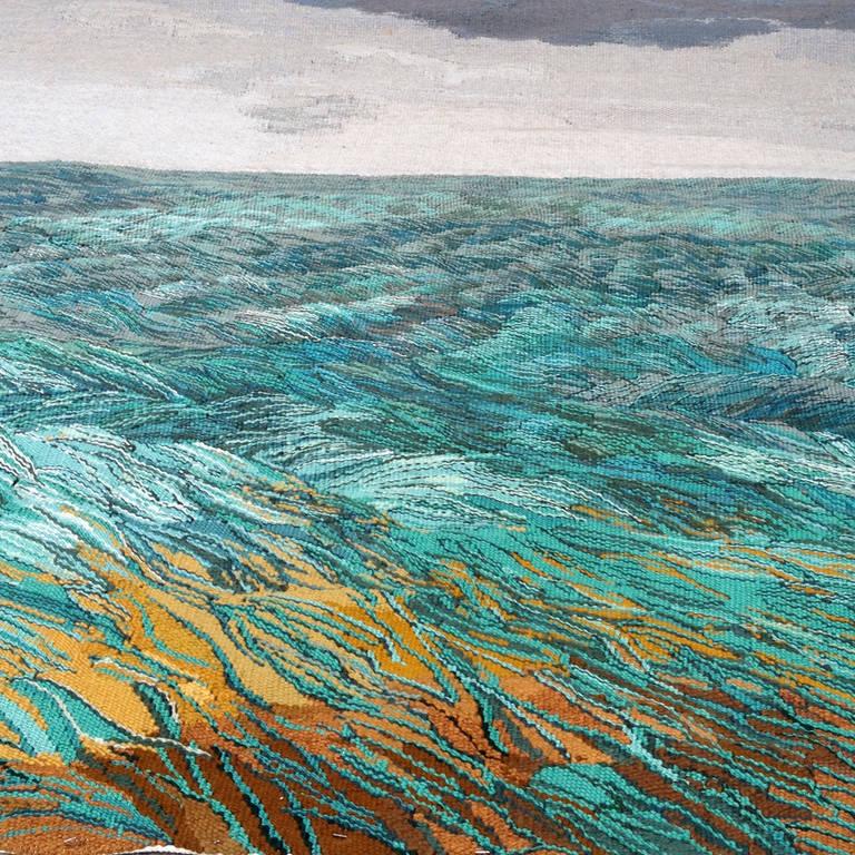 Scandinavian Art Carpet Quot Ocean Quot 1960 At 1stdibs