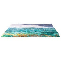"""Scandinavian Art Carpet """"Ocean,"""" 1960"""