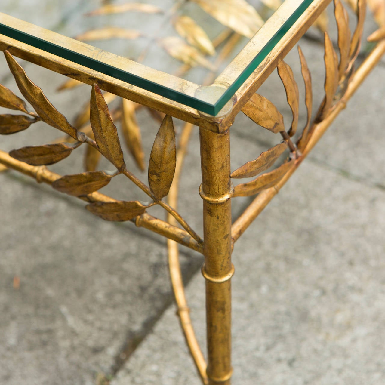 French Gold Coffee Table: French Gold Plated Faux Bamboo Coffee Table At 1stdibs