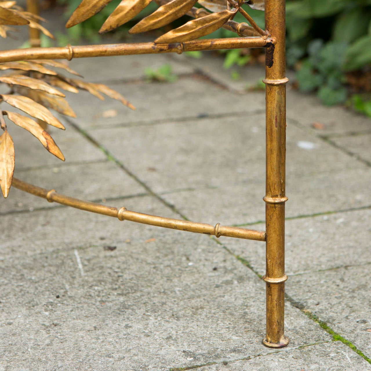 French Gold Plated Faux Bamboo Coffee Table At 1stdibs