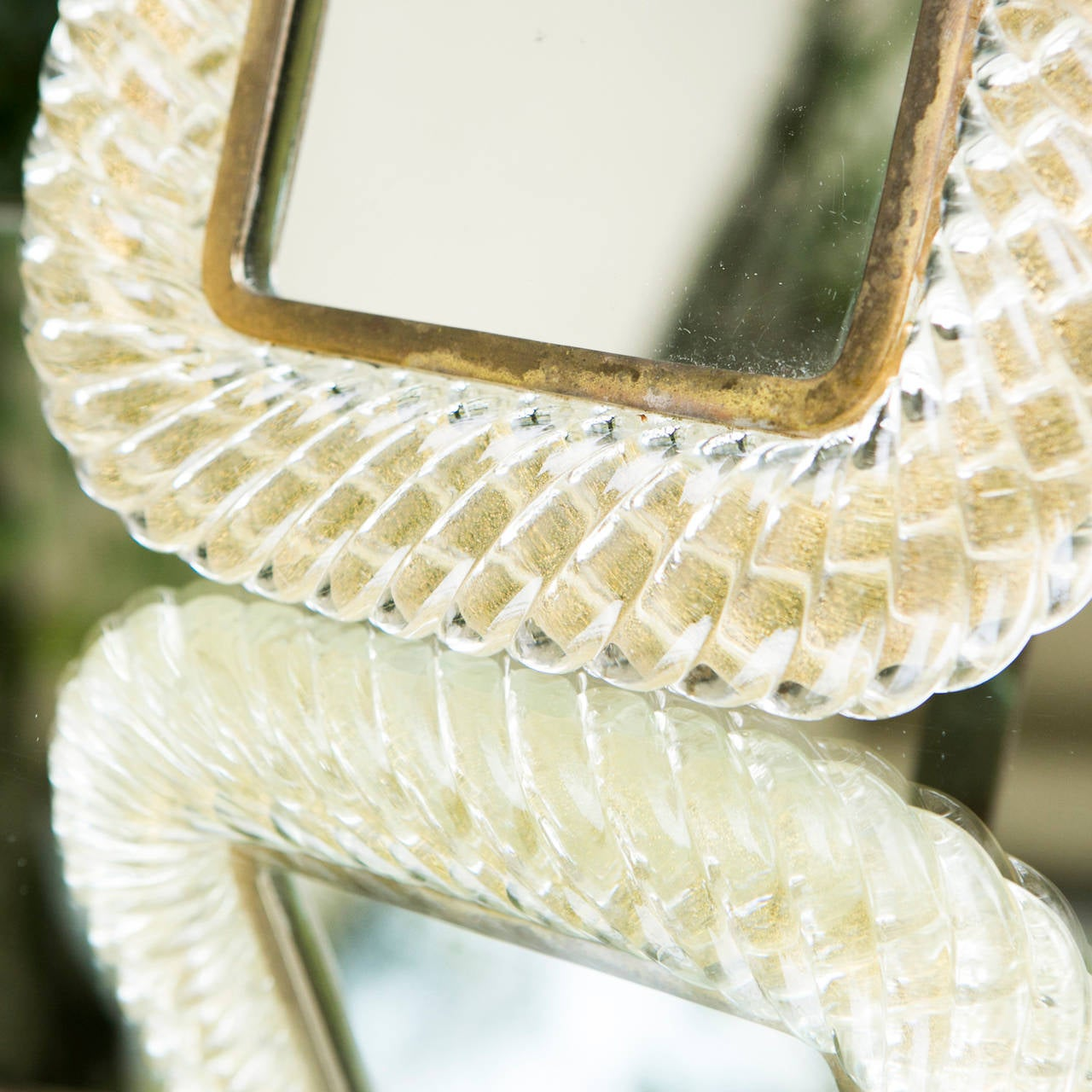 Italian Seguso Vanity Mirror or Picture Frame, Murano