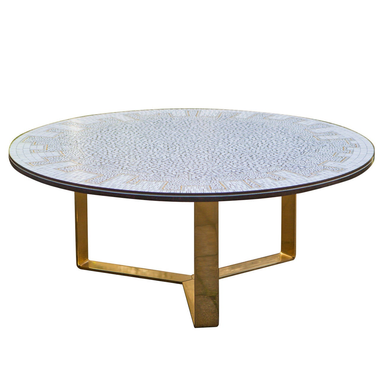 Impressive glass mosaic coffee table france 1970 at 1stdibs for Mosaic coffee table