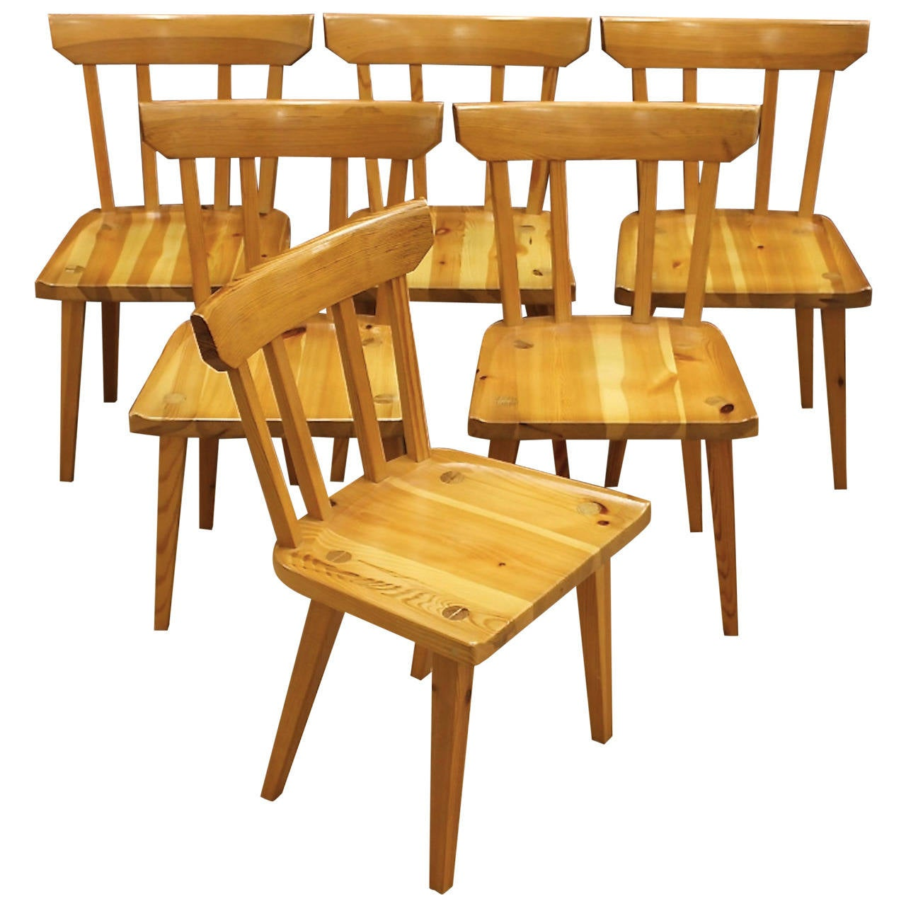 6 dining chairs for sale at 1stdibs for Dining room chairs 50