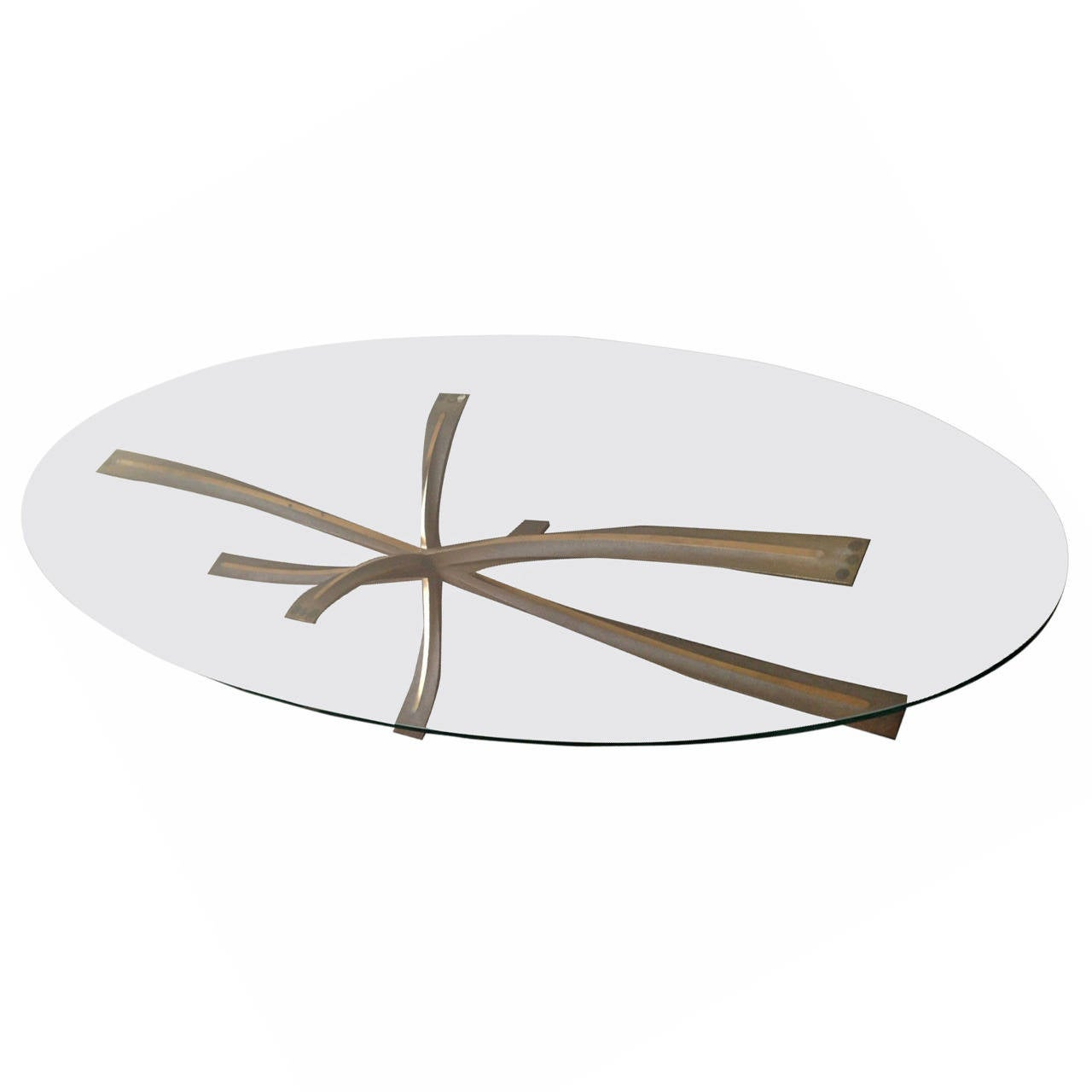 very rare coffee table by michel mangematin