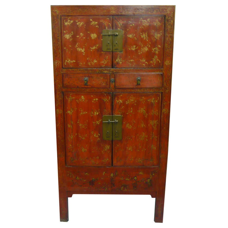 Chinese painted armoire at 1stdibs for Chinese art furniture