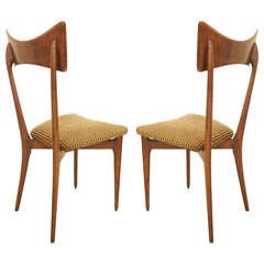 Pair of Ico Parisi Dining Chairs