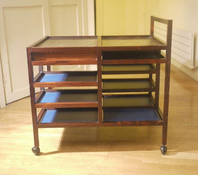 Mid-Century Modern Bodil Kjaer Trolley for E. Pedersen & Son For Sale