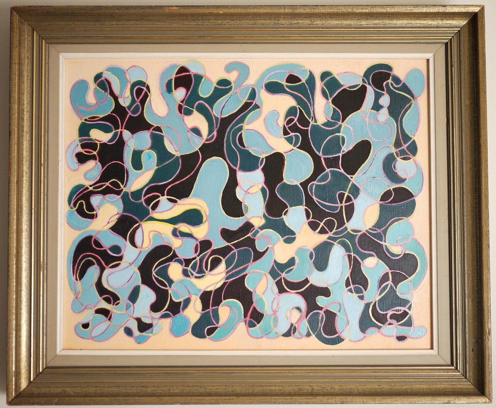 "Julio Montero ""Algas Prismáticas"" Oil on Canvas 2006"