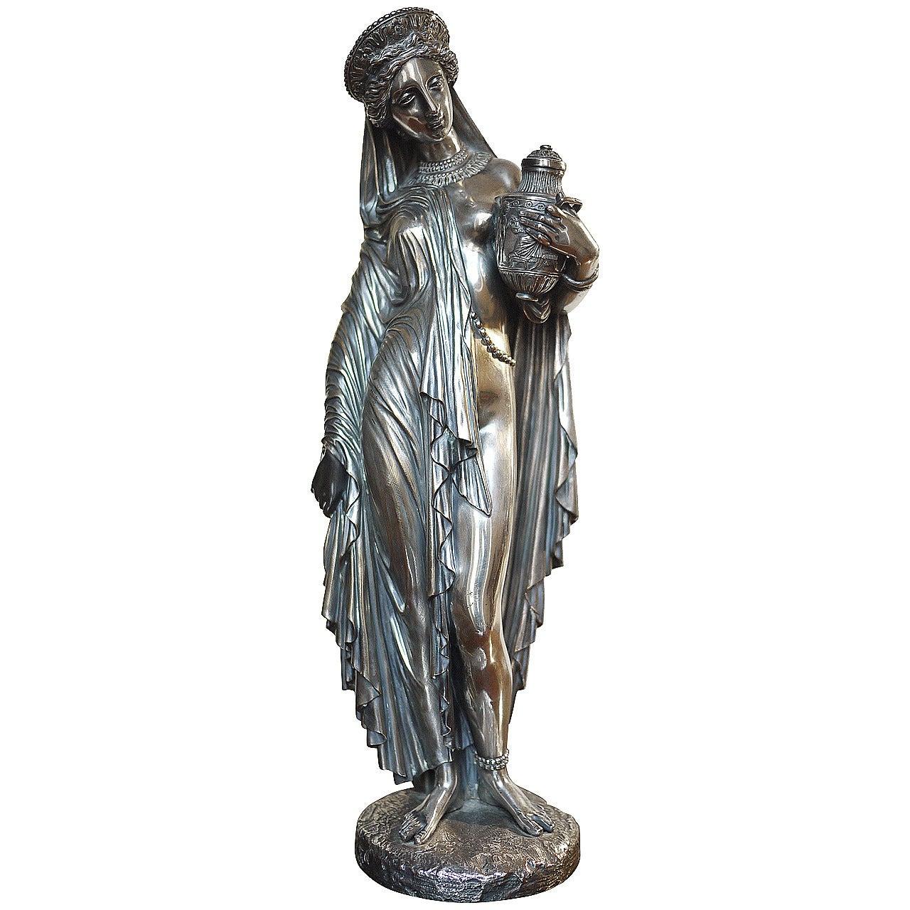 Jean-Jacques Pradier Bronze Figure of Pandora.