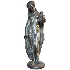 Jean-Jacques Pradier Bronze Figure of Pandora.
