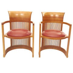 Pair of Frank Lloyd Wright Chairs for Cassina
