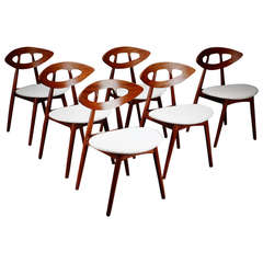 "Set of Six Ejvind  A. Johansson ""Eye Chairs"""