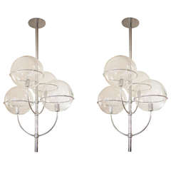 Vico Magistretti Lydon Chandelier for O-Luce