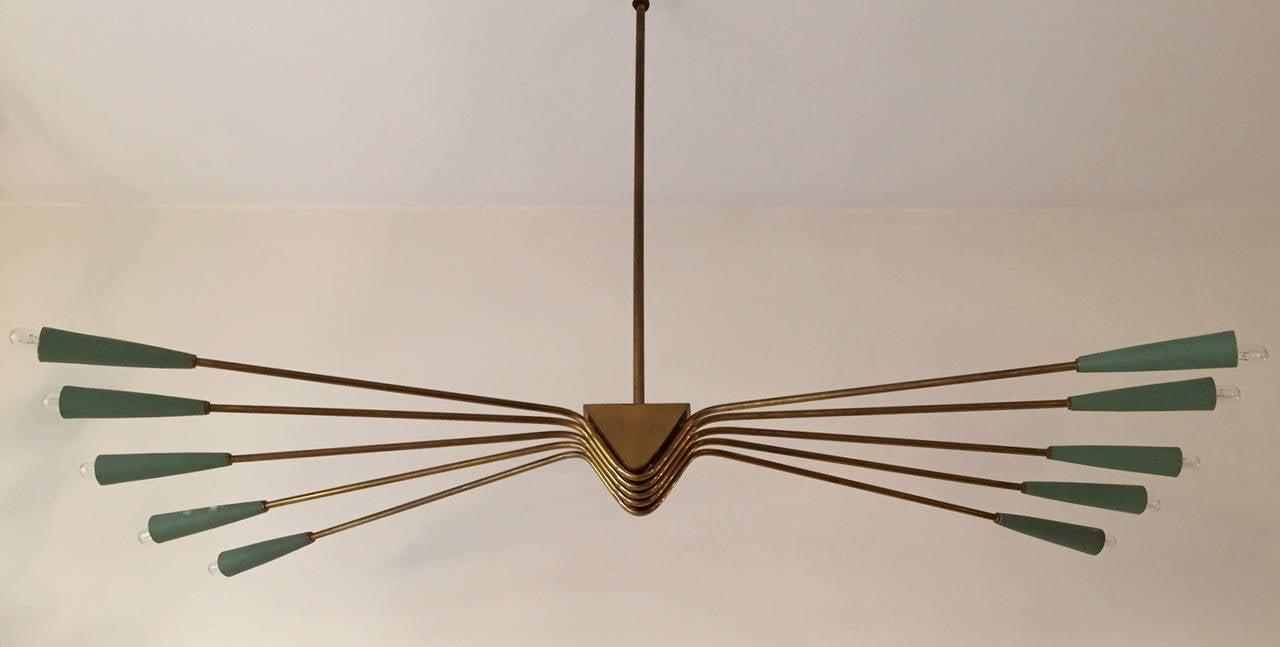 Mid-20th Century 1950 Lumi Ceiling Lamp For Sale