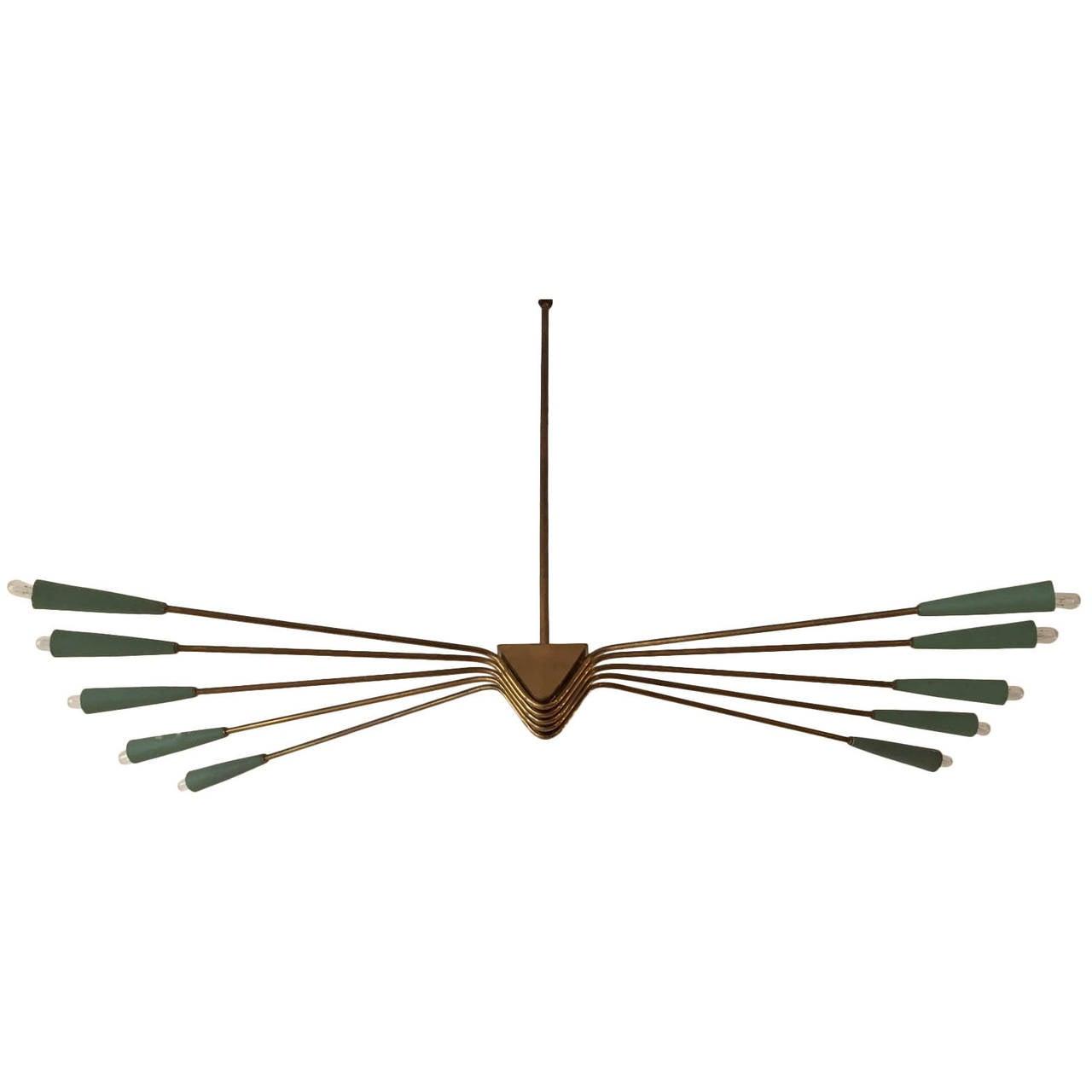 1950 Lumi Ceiling Lamp For Sale